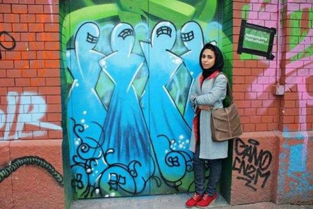 Shamsia Hassani, 'Rote Fabrik', Switzerland, 2013. Image courtesy the artist.