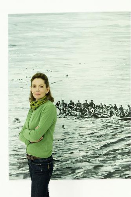 Monique Burger, in front of Ivernia, 2005