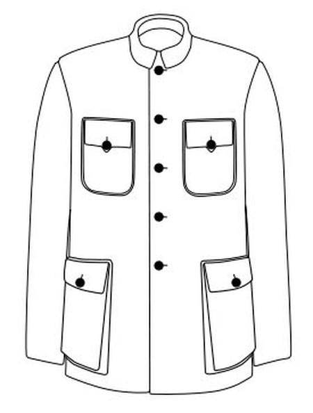 A tunic suit