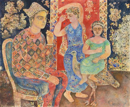 Sakti Burman, 'Ganapathy in Harlequin', 2014, oil on canvas, 138x165cm