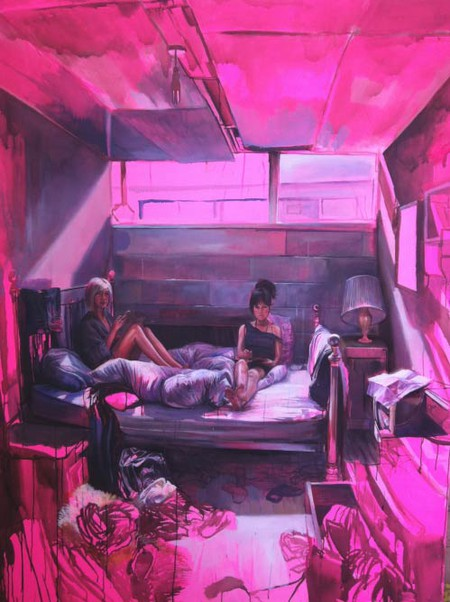 Laura Oldfield Ford 'TQ3382: Tweed House, Teviot Street' 2012. Courtesy of The Fine Art Society
