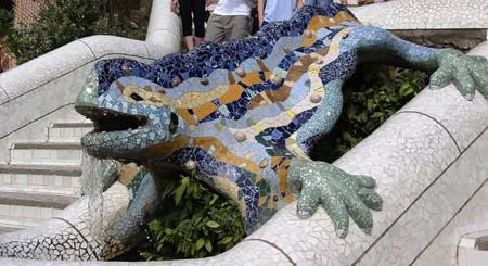 Mosaic reptile at Park Guell