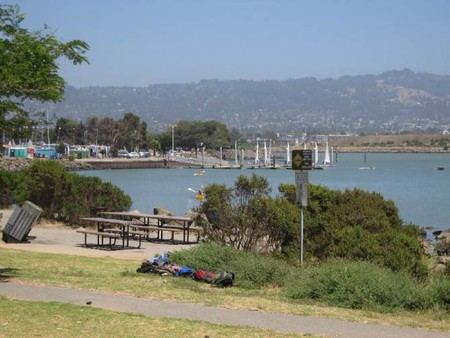 Picnic tables along the Berkeley Marina   © Shaina Potts/Living New Deal