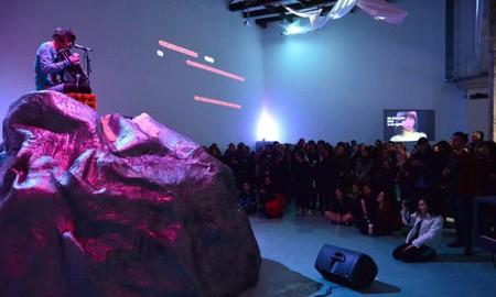 Performance by Adam Christensen, 13th of March 2015, W139. Photo: Milan Anais
