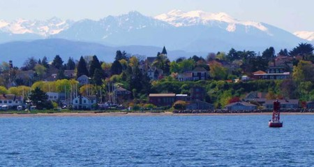 Port Townsend with the Olympic Mountains in the background