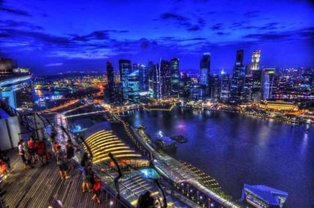 Night view from Ce La Vi