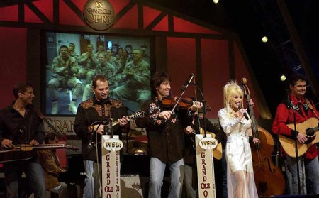 Dolly Parton playing the Grand Old Opry