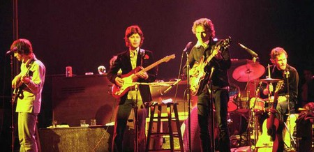 Bob Dylan and The Band touring in 1974