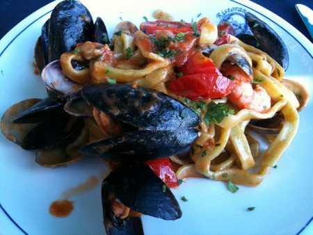 Positano speciality Scialatielli ai frutti di mare