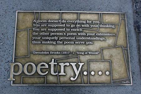 Gwendolyn Brooks poetry plaque   © Lesekreis/WikiCommons