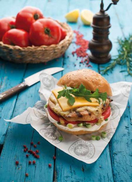 Delicious homemade burger | Courtesy of Bluefield Burger Company
