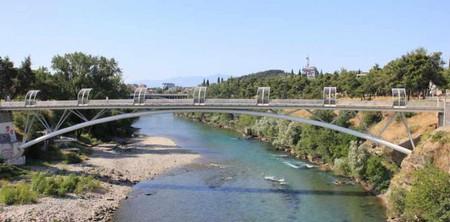 Footbridge Over Morača River