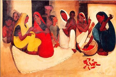 Amrita Sher Gil, Village Scene, 1938