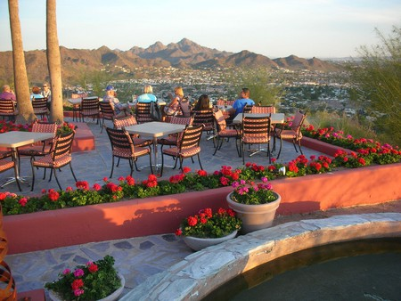 """The restaurant """"A Different Point of View"""" on the top of the Pointe Hilton Tapatio Cliffs Resort 