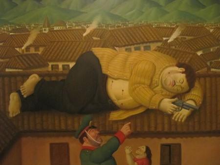 La muerte de Pablo Escobar, Museo de Antioquía, Medellín © Fernando Botero,