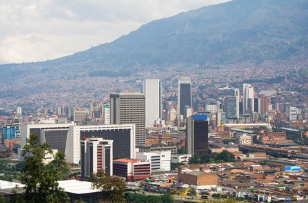 Medellin downtown Colombia