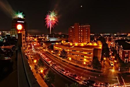 fireworks over downtown Norfolk, Virginia ©Missy Schmidt