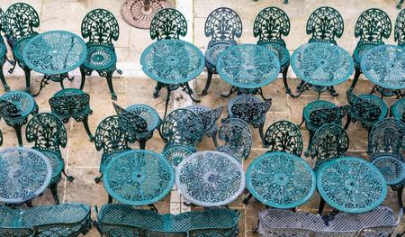 Chairs and tables from Upper Barrakka Gardens in Valletta, Malta