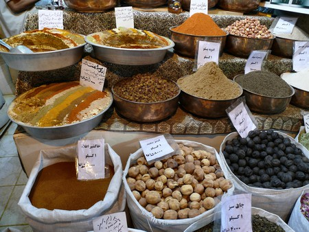 Spices and dry fruits at a shop in the Bazaar-e Vakil, Iran |© dynamosquito/Flickr