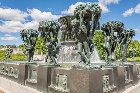 Vigeland Park in Oslo is one of the top tourist attractions in Norway