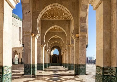 Casablanca, Morocco. Mosque Hassan II arcade gallery | © Vlada Photo/Shutterstock