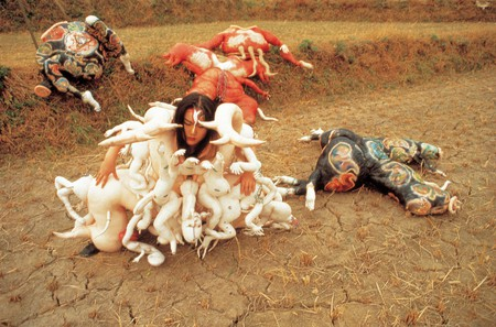 Lee Bul, Cravings (Outdoor performance, Jang Heung, Korea), 1989