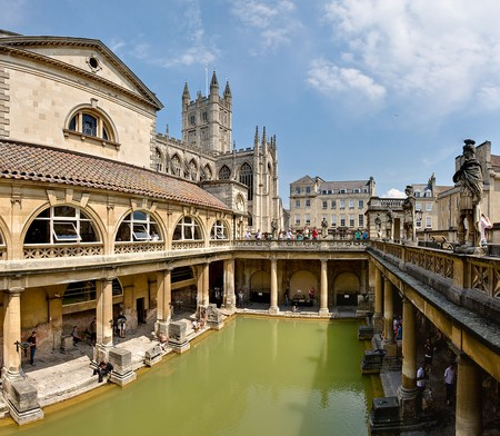 Roman Baths in Bath/ ©WikiCommons