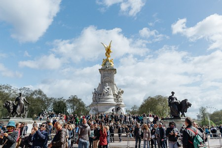 The Victoria Memorial is at the end of The Mall