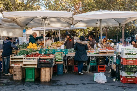 Visit the Fontanella Borghese Market to peruse fresh produce, ancient etchings and prints, and bargain books