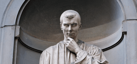 Statue of Machiavelli in Florence, Italy