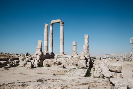 The Temple of Hercules at Amman Citadel is one of many cultural landmarks in the Jordan capital