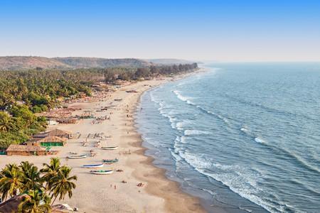 Beauty Arambol beach aerial view landscape, Goa state in India | © saiko3p/Flickr