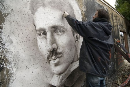 Nikola Tesla painted portrait _DDC3422 | © thierry ehrmann/Flickr