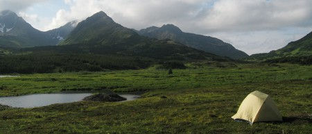 Camping out in Chugach State Park, Alaska