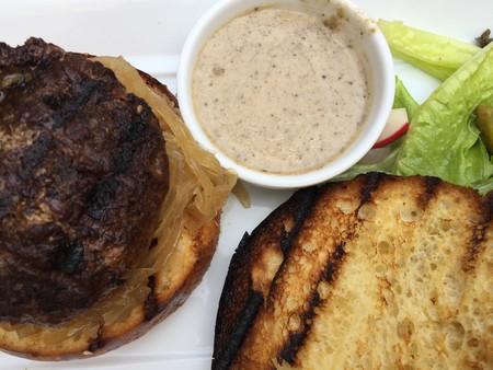 Hamburger with truffle sauce| © Brooke Yalof