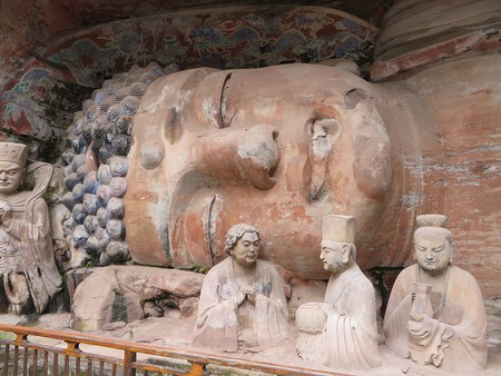 Lying Buddha, Dazu Rock Carvings, Chongqing, China. | © Jpbowen/WikiCommons