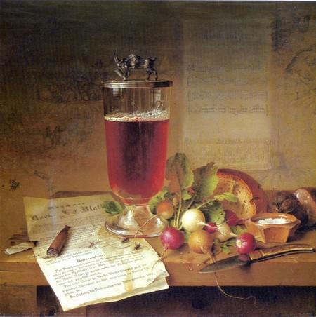Stillleben mit Bockbierglas | © Johann Wilhelm Preyer/WikiCommons