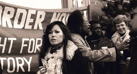 1977 — Janice Mirikitani and Rev. Cecil Williams at a protest in San Francisco | © Nancy Wong/WikiCommons