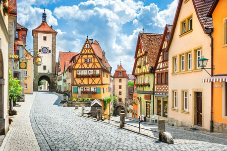Rothenburg ob der Tauber is a visual feast of medieval and Renaissance buildings