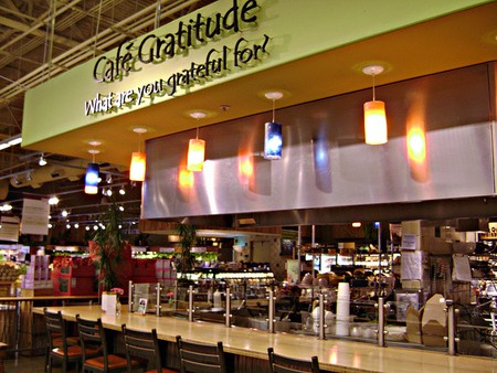 Cafe Gratitude inside Whole Foods Cupertino
