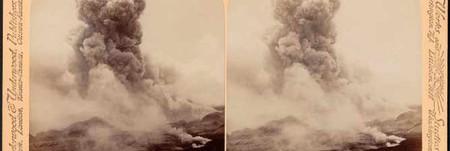 A terrible volcanic explosion - Mont Pelée in eruption, June 5, 1902, Martinique | © Boston Public Library/Flickr