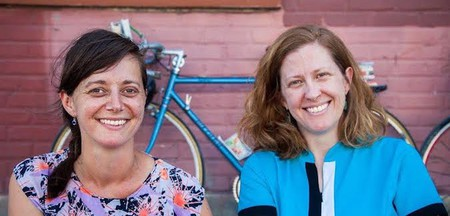 From left to right,  F.L.O.W founders Jenn Witte and Dawn Finley | © Randy Perry