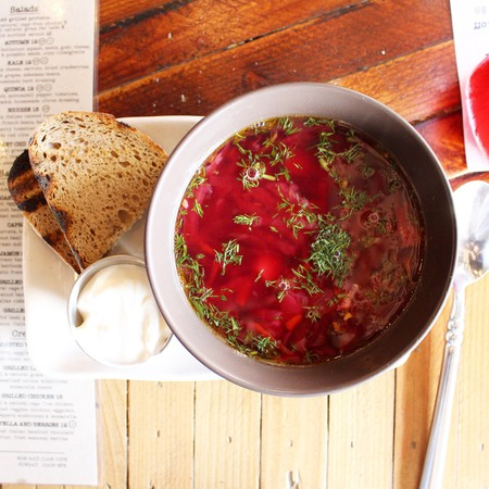 Indulge in a Ukrainian-style soup | Courtesy of Lindsey Buchanan