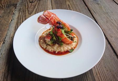 Lobster tail dish at Enhjørningen