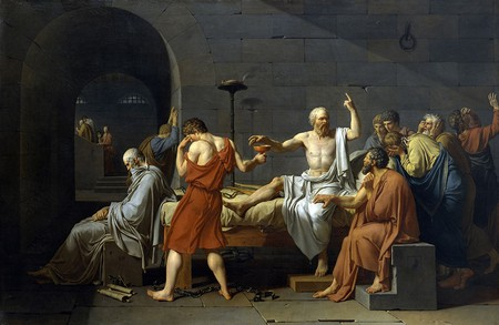 Jaques Louis David, 'The Death of Socrates', 1787