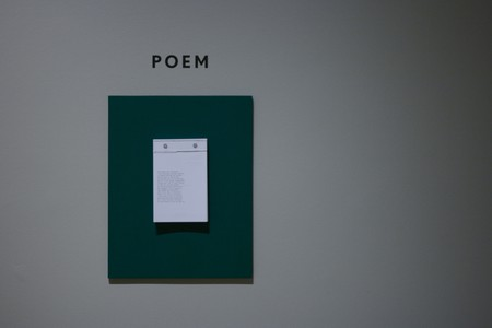 Poems by Frank O'Hara hanging on the wall of Museum Of The City Of New York | © Marcin Wichary/Flickr