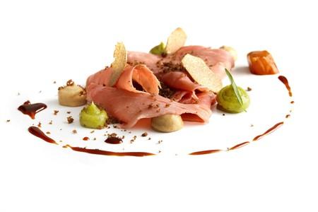 Veal shank with Perrechicos, marrow, tendons, earthy avocado and truffle | Courtesy of El Celler de Can Roca