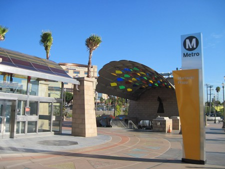 The Mariachi Plaza Station public domain image courtesy of Wikipedia