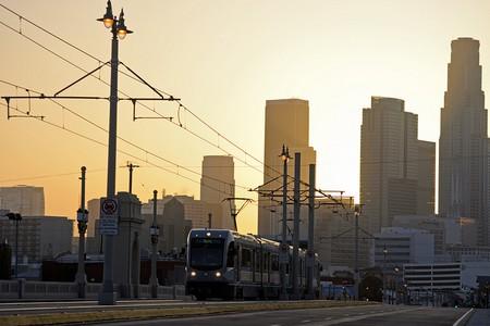 Eastside Gold Line and Los Angeles skyline © Steve and Julie/Flickr