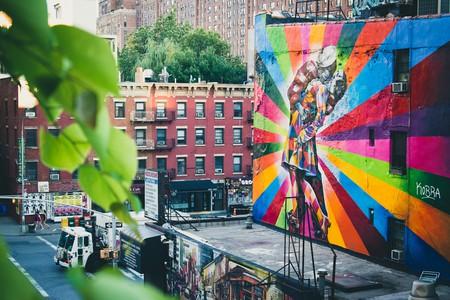 Eduardo Kobra Street Art on the Highline NYC   © Nan Palmero/Flickr